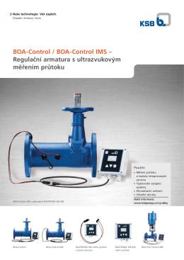 BOA-Control / BOA-Control IMS – Regulační armatura s