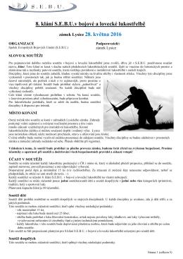 8. klání S.E.B.U.v bojové a lovecké lukostřelbě