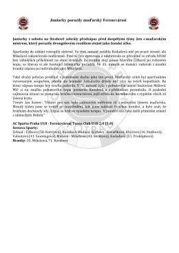 Ferencvárosi Budapešť U18 2:0 - AC Sparta Praha