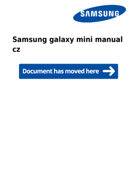 Samsung galaxy mini manual cz