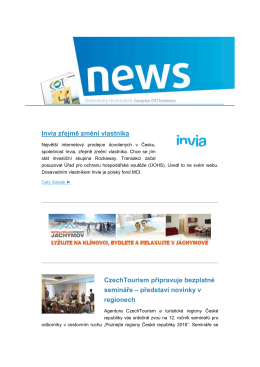 Newsletter COT business č. 03 / 2016