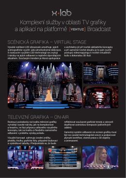 Komplexní služby v oblasti TV grafiky a aplikací na platform