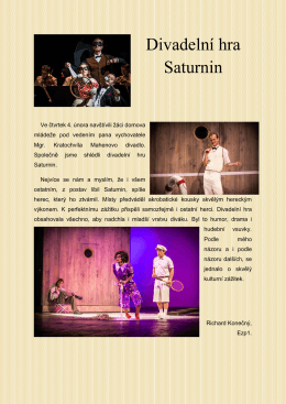 Divadelní hra Saturnin