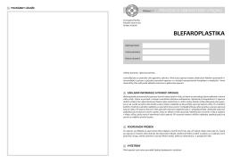 blefaroplastika - Fakultní nemocnice Hradec Králové