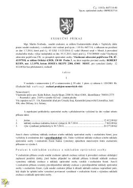 Č.j.: 110 Ex 4657/14-40 Sp.zn. oprávněné osoby: 0809EX5714