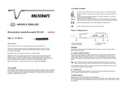 překlad- 125824 - zkoušečka napětí Voltcraft
