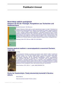 Publikační činnost - Katolická teologická fakulta
