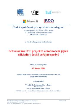 Schvalování ICT projektů a hodnocení jejich - cssi