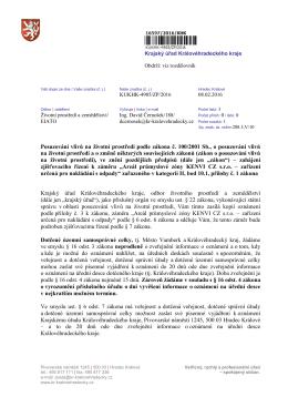 Posuzování vlivů na životní prostředí podle zákona č. 100/2001 Sb