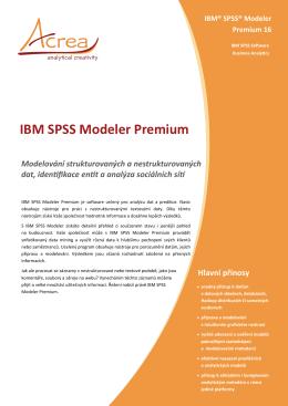IBM SPSS Modeler Premium | Acrea