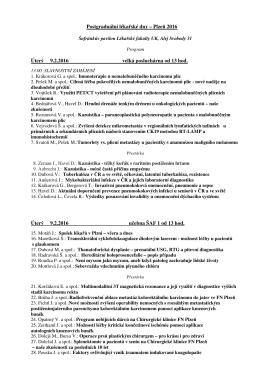 Postgraduální lékařské dny 2016