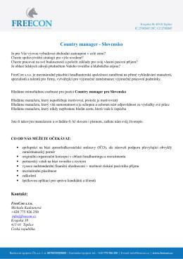 Country manager - Slovensko