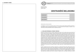 odstranění melanomu - Fakultní nemocnice Hradec Králové