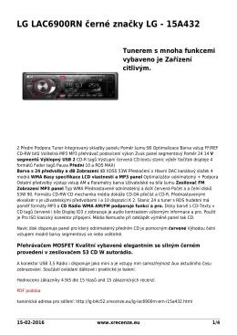 LG LAC6900RN černé značky LG - 15A432 - Přečtěte