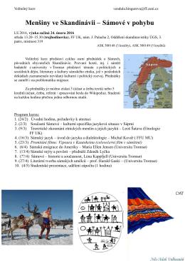 Menšiny ve Skandinávii – Sámové v pohybu