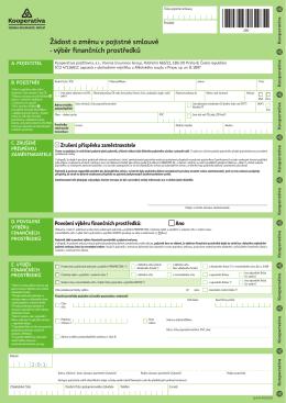 Žádost o výběr finančních prostředků (vpisovací PDF)