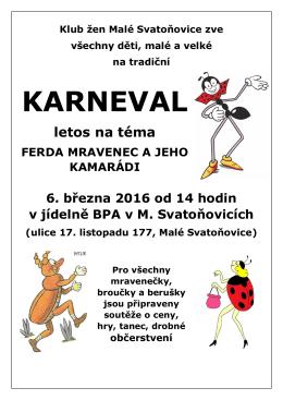 karneval - Malé Svatoňovice