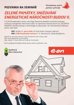 zelené památky, snižování energetické náročnosti budov ii.