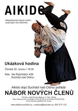 nábor nových členů - Aikido dojo Suchdol nad Odrou