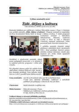 Židé, dějiny a kultura - Židovské muzeum v Praze