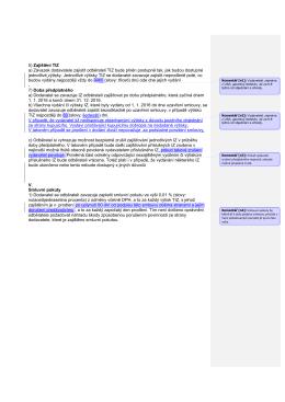5) Zajištění TIZ a) Závazek dodavatele zajistit - E