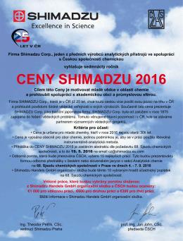 CENY SHIMADZU 2016