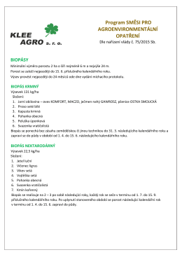 biopásy - směsi - KLEE AGRO sro