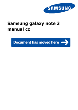 Samsung galaxy note 3 manual cz
