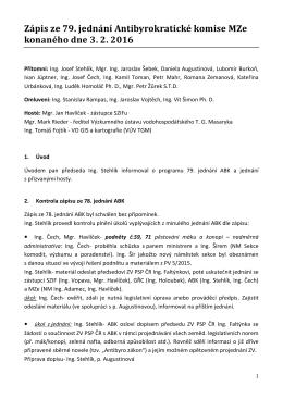 Zápis z jednání ABK MZe