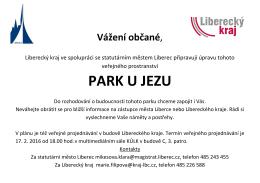 Pozvánka - Statutární město Liberec