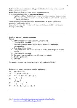 Řešení lineárních rovnic