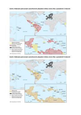 Země s hlášeným potvrzeným autochtonním případem infekce virem
