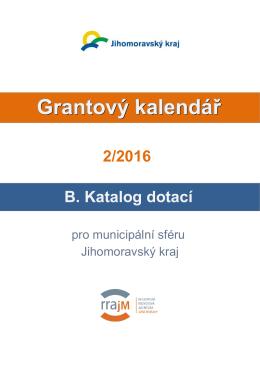 B. Katalog dotací