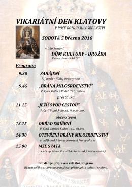 Vikariátní den 05.03.2016 - Římskokatolická farnost Klatovy