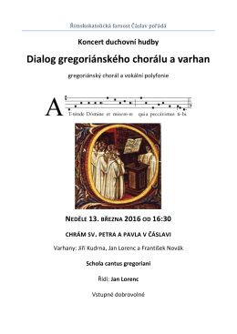 Dialog gregoriánského chorálu a varhan