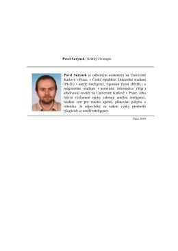 Pavel Surynek | Krátký životopis Pavel Surynek je odborným