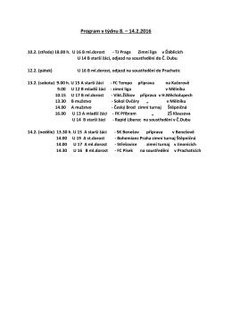 Program v týdnu 8. – 14.2.2016