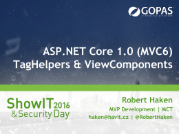 ASP.NET MVC6 – TagHelpers & ViewComponents