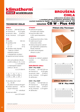 Katalogový list - Broušené zdivo obvodové CB W