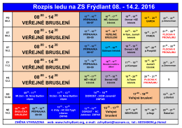 Rozpis ledu na ZS Frýdlant 08.