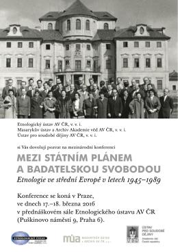 pozvánku - Ústav pro soudobé dějiny AV ČR