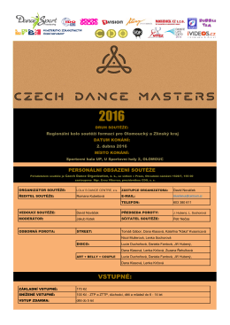 propozice - Czech Dance Organization