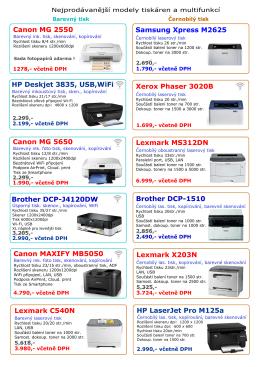 Tiskárny, multifunkce a stolní počítače Xerius
