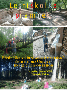 Lesní školKa pramínek