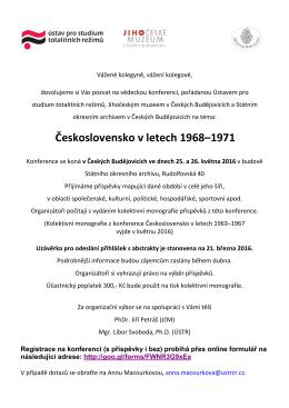 Call for Abstracts_Československo v letech 1968