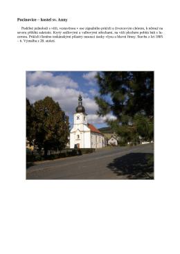 Pocinovice – kostel sv. Anny