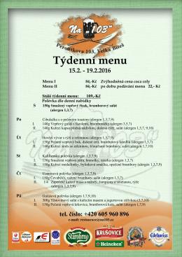 Týdenní menu