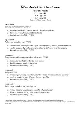 Divadelní restaurace Polední menu