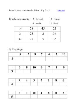 EU-2-10 Násobení a dělení 0