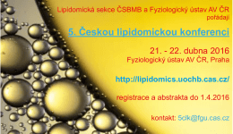 5. Českou lipidomickou konferenci